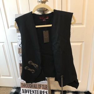 Anthropologie Line & Dot black vest NEW WITH TAGS
